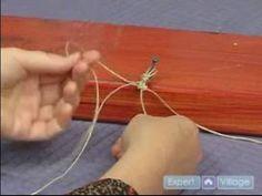 How to Make Hemp Jewelry : Beginning the Alternating Knot Hemp Bracelet - YouTube
