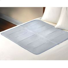 gel-filled pad that provides soothing cooling to help you drift peacefully to sleep. Ideal for warm sleepers, the pads unique gel almost immediately reduces the surface temperature of the skin to several degrees below the ambient temperature and continues to absorb excess body heat for approximately 45 minutes. Cooling naturally without requiring electrical power or refrigeration, the pad simply lays on top of a bed or under a sheet. As one normally changes positions during sleep,