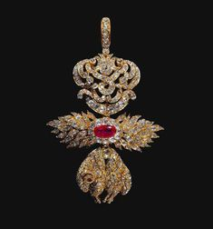 Portuguese crown jewels: Badge of the Golden Fleece Order.