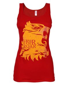 Worn Game of Thrones House Lannister Sigil Womens Red Vest | eBay