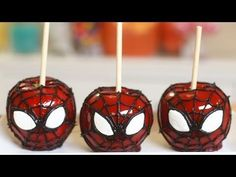 How to Make Spiderman Candy Apples - Cooking - Handimania