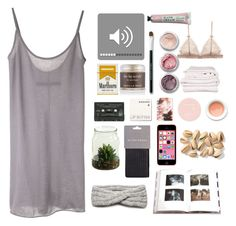 """""""How to pass sleepless nights """" by annapac ❤ liked on Polyvore featuring Enza Costa, Bare Escentuals, Korres, Penguin Group, Sara Happ, NIC+ZOE and Brahms Mount"""