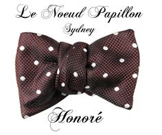 Honore, a new bow tie from Le Noeud Papillon - $145 - www.lenoeudpapillon.com