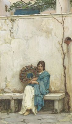 PEACOCK'S GARDEN: John William Waterhouse
