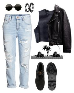 """""""THE NBHD"""" by lululisi ❤ liked on Polyvore featuring H&M, Timberland, Bling Jewelry and André Ribeiro"""