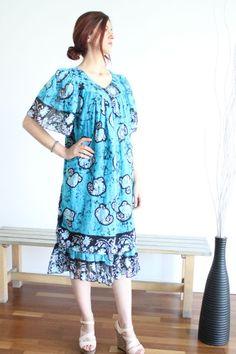otantik özel desenli elbise Zet.com'da 100 TL