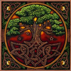 Tree of Life Cross Stitch Pattern - Tangled roots anchor this massive tree, as its branches soar heavenward, touching the stars. The Tree of Life stands as a bridge between worlds, and a connection between the visible world and the realm that lies just beyond our senses. Based on artwork by Lisa Parker. Design measures 464 stitches wide by 466 stitches high. #gryphonsmoon #crossstitch