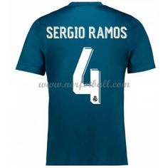 Billige Fotballdrakter Real Madrid 2017-18 Sergio Ramos 4 Tredjedrakt Kortermet