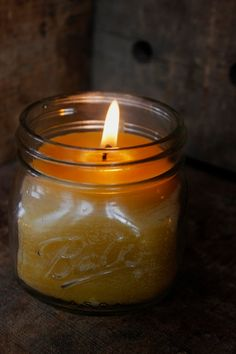 Beeswax Mason Jar Candle Mason Jar Candle by RockyMtnBeeCandles Mason Jar Candles, Beeswax Candles, Rustic Room, Rustic Decor, Massage Business, Southwestern Decorating, Hearth And Home, Business Products, Bird Cages