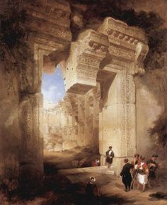 Ruins of the Great Temple at Karnak, in Upper Egypt - David Roberts (1845)