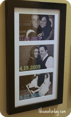 DIY anniversary wall art - could be used for birthdays, special events, etc Married Life, Got Married, Our Wedding, Dream Wedding, Wedding Ideas, Just In Case, Just For You, Foto Fun, Important Dates