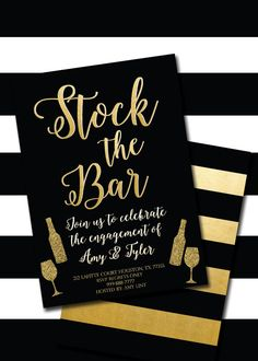 Printable Stock the Bar Invitation by CarasCustomCreations My best