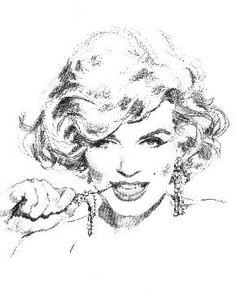 Marilyn sketch
