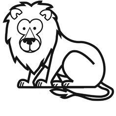 Dessin coloriage lion