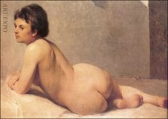 Nude by Polychronis Lembesis, Greek painter National Gallery of Athens Figure Painting, Painting & Drawing, National Gallery, Pose, Social Art, Portraits, Art Database, Life Drawing, Art Google