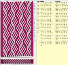 32 tarjetas, 2 colores, repite cada 8 movimientos // sed_429 diseñado en GTT༺❁