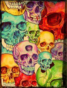 Skull Collector by Raudiel Sañudo Art Beat, Colorful Skulls, Skull Wallpaper, Skull Design, Expo, Skull And Bones, Skeleton Bones, Skull Art, Dark Art