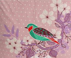 CAPA DE ALMOFADA BIRD - 50X50CM