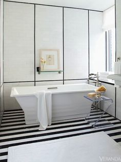 {Design Crush} A Linear, Graphic Bathroom by S. Russell Groves