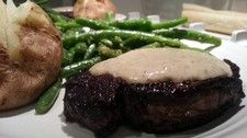 Filet Mignon with Green Peppercorn Cream Sauce | Easy to make, impressive to taste | Pair with Cabernet Franc (Andis 2012 Cabernet Franc)