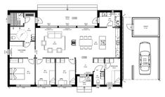 Kotikontti 2 - - Mammuttikoti Future House, House Plans, Floor Plans, Layout, How To Plan, Buildings, House Ideas, Home, Page Layout