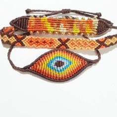 Items similar to bracelet on Etsy Macrame Art, Macrame Knots, Macrame Jewelry, Macrame Bracelets, Friendship Bracelet Patterns, Friendship Bracelets, Evil Eye Bracelet, Colorful Bracelets, Beadwork