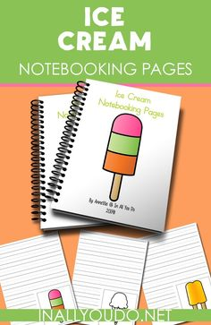 These fun Ice Cream Notebooking Pages are great for summer time learning! As a simple way to record the history of ice cream or just for fun. Writing Worksheets, Worksheets For Kids, Free Homeschool Curriculum, Homeschooling Resources, Spelling For Kids, Learning Numbers, Lessons For Kids, Kids Learning, Elementary Schools