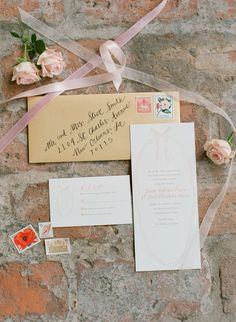 Elegant country style wedding stationery