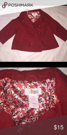 Red Peacoat size 18 Months Good condition, fully lined the  brand is Circo. Circo Jackets & Coats Pea Coats