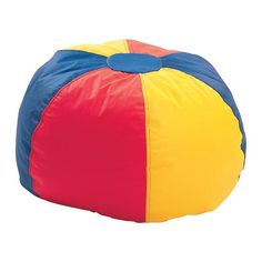 The same, comfortable beanbag positioning everyone loves with a bright, new multicolored look! Chair features heavy-duty vinyl exterior. Available in Red/Yellow/Blue combination. Ages 16+.  Also available as W31267 (up to 10 years old) and W31275 (10 - 16 years old).