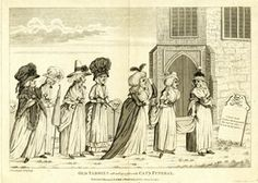 1794, Old tabbies attending a favorite cat's funeral