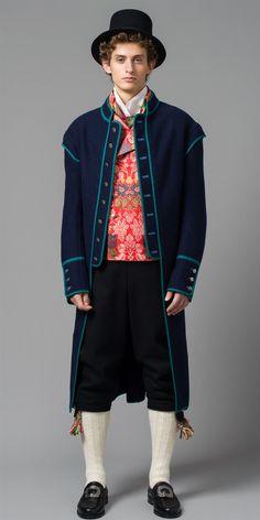 Blå kjol og kalamankvest Elegant, Folklore, Style, Fashion, Classy, Moda, Chic, Fashion Styles, Fashion Illustrations