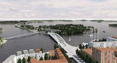 Kruunusillat bridge competition Helsinki - Recreatio Maritimus -> laituri.hel.fi Helsinki, Bridges, Finland, Competition, Architecture, Gallery, Places, Arquitetura, Roof Rack