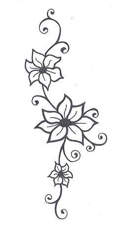Jasmine Flower Tattoos, Flower Vine Tattoos, Flower Tattoo Designs, Henna Designs, Flower Designs, Tattoo Flowers, Henna Flowers, Daisies Tattoo, Vine Foot Tattoos