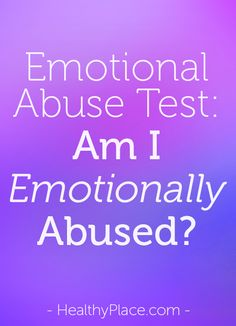 Emotional and mental abuse test