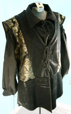 Mens Black and Gold Jerkin SIze 3XL by PavaneCostuming on Etsy, $50.00