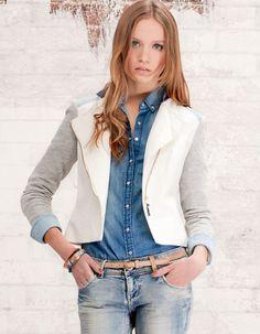 blazer bicolore