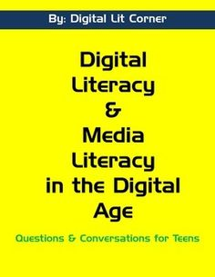 Digital Literacy and Media Literacy in the Digital Age for grade. Teach online responsibility and critical thinking! Computer Literacy, Media Literacy, Literacy Skills, Mental Health Education, Information Literacy, E Learning, 21st Century Learning, Digital Literacy, Digital Citizenship