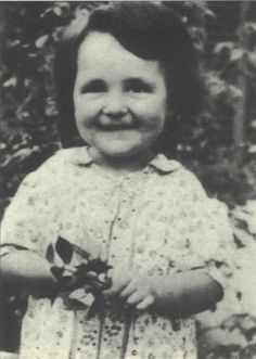 Let us never forget this cute little toddler Monique Frankfurt-Fiegel with her precious smile and holding a toy. Monique was gassed in Auschwitz on Sept. 9, 1942 at age 3.