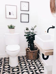 33 Modern Bathroom Decor Ideas Match With Your Home Design Style ~ Home And Garden Bathroom Floor Tiles, Modern Bathroom, Bathroom Interior, Minimalist Bathroom, Tiled Bathrooms, Bathroom Green, Wall Tiles, Room Tiles, Budget Bathroom