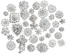 Zaki Lot 25pcs Silver Color Sparking Rhinestone Wedding Bridal Crystal Brooches Brooch Pins Bouquet Kit - http://www.jewelryfashionlife.com/zaki-lot-25pcs-silver-color-sparking-rhinestone-wedding-bridal-crystal-brooches-brooch-pins-bouquet-kit/