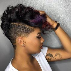 Short Black Undercut Hairstyle