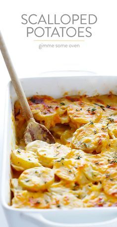 Scalloped Potatoes Recipe -- creamy, cheesy, irresistibly delicious, and perfect for any occasion.
