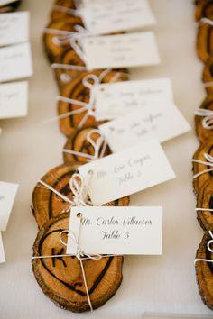 Adorable rustic escort card idea #weddings | Kate Connolly Photography