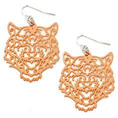 Great for grads! Orange Filigree Tiger Fishhook Earrings Sports Team Acces... http://www.amazon.com/dp/B0152A9VLQ/ref=cm_sw_r_pi_dp_MvYoxb11PFRA5