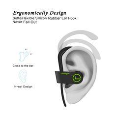 2b1c83df81f Bluetooth Headphones Sports Wireless Headphones Earbuds Muzili Y2 InEar Bluetooth  Earbuds w/ Mic IPX7 Waterproof