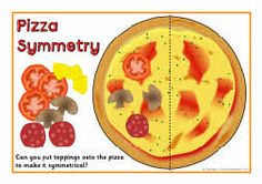 pizza toppings symmetry activity - Love this idea.....why not CREATE our own symmetry pizzas!! : )