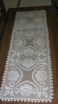 Crochet And Arts: Filet Crochet Wipes - - Diy Crafts Crochet Doily Diagram, Filet Crochet Charts, Crochet Table Runner, Crochet Tablecloth, Diy Crafts Crochet, Crochet Home, Doily Patterns, Crochet Patterns, Crochet Dollies