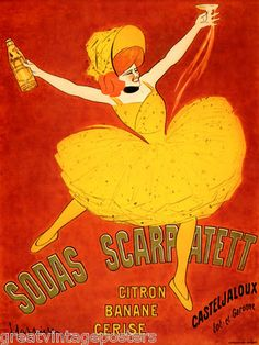 Buyenlarge Sodas Scarpatett by Leonetto Cappiello Vintage Advertisement Size: Italian Posters, French Posters, Poster S, Vintage Travel Posters, Vintage Advertisements, Vintage Art, Find Art, 5 D, Illustration Art