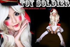 Toy Soldier Makeup http://www.frmheadtotoe.com/2010/10/toy-soldier-halloween-tutorial.html